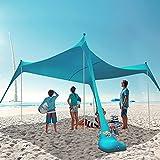 HARBLAND Beach Tent, 10X10 FT Beach Shade Canopy...