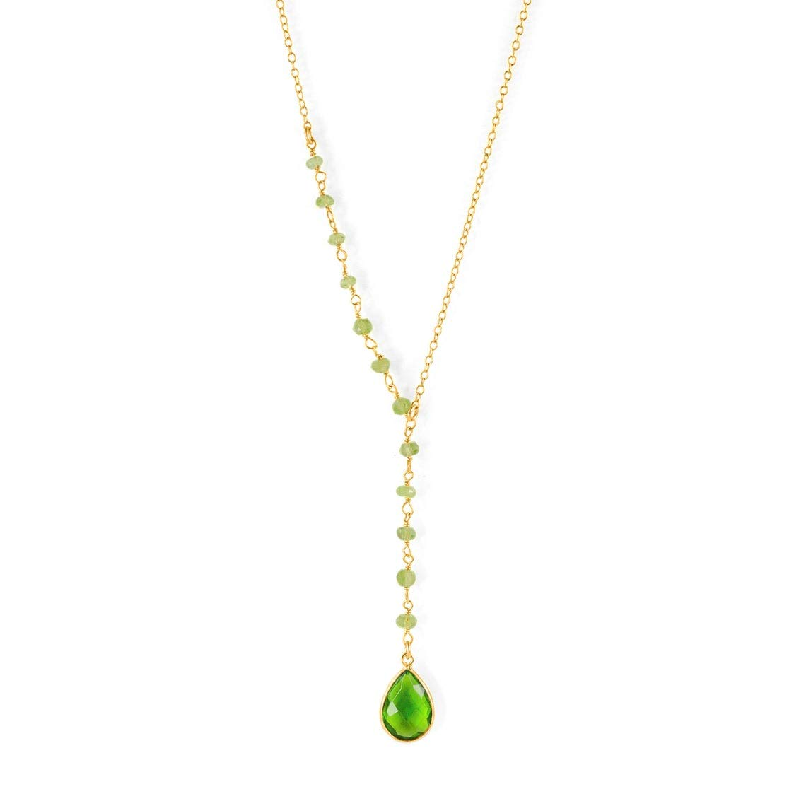 Special Campaign August Birthstone Long Beach Mall Necklace Green N Chalcedony necklace Peridot
