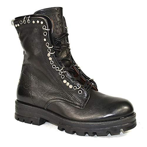A.S.98 Airstep Stiefelette Leder Stiefel Biker Boots Damen Schuh : 35 Schwarz Farbe Schwarz, Schuhgröße 35
