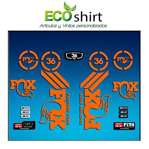 Ecoshirt MP-WOK5-7E3L Pegatinas Sticker Fork Fox 36 Am60 Aufkleber Decals Autocollants Adesivi Forcela Gabel Fourche, Naranja