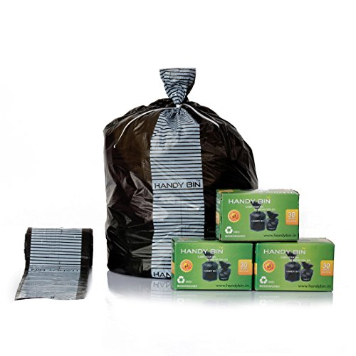 HandyBin Diaper Disposal Bags/SanitaryPad Disposal Bag/FACE MASK, Gloves Disposal Bags/Car Dustbin(30 Bags/Box, 6 Boxes, 180 Bags)