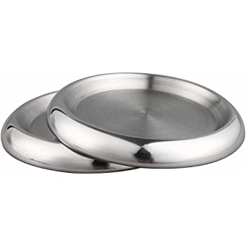 Coffee Table Interdesign 20550 Kitchen Dining Room Brushed Stainless Steel Drink Coasters for Home Counters Living Room Patio