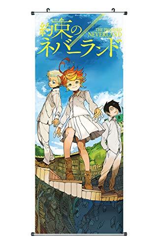 CoolChange Poster para enrollar /Kakemono deThe Promised Neverland Hecho de paño, 100x40cm, Motivo: Norman, Ray & Emma