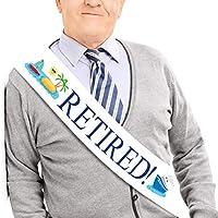 退職!サッシュ - 退職記念サッシュ メンズ&レディース 大型メタルピン付き 仕事会 イベント パーティー用品 ギフト 記念品 デコレーション JPACO 全サイズ対応
