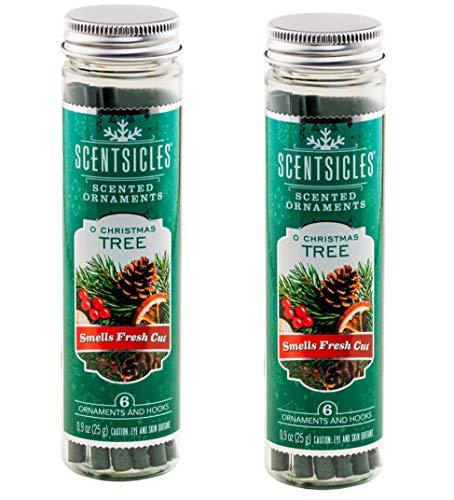 Scentsicles O Christmas Tree-Duftschmuck mit Haken, 2 Flaschen (insgesamt 12 Stäbchen)
