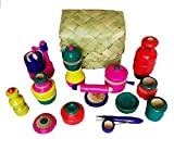 SHRI DEV COLLECTIONS Traditional Handcrafted Wooden Kitchen Play Set (Multicolour)