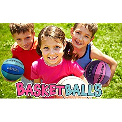 meteor® Layup: Children /& Youth Basketball–Orange markArtur ideal for children–5to 10Years Perfect for Training Soft Basketball Basketball With Non-Slip Surface Size # 4