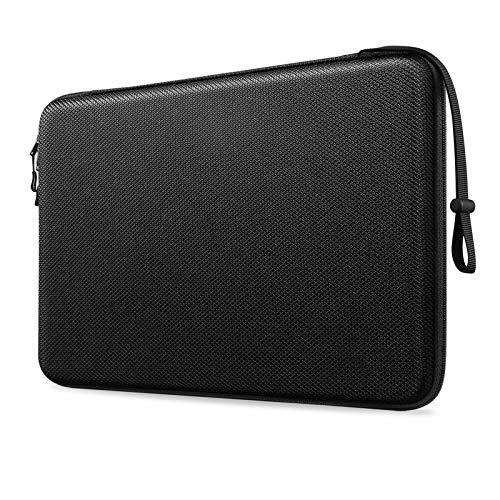 """Fintie 13 Zoll Laptop Tasche Hartschalen Schutzhülle für 13,3\"""" MacBook Air M1/A2337 A1932 A2179, MacBook Pro 13\"""" M1/A2338 A2289 A2159 A1989 A1706 A1708, Surface Pro 12,3\"""", stoßfest Hülle, Schwarz"""