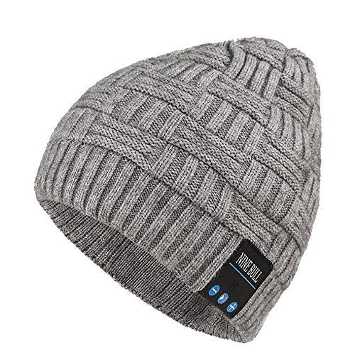 Sombrero de señora Beret estilo francés Bluetooth inalámbrico Sombrero de punto con...