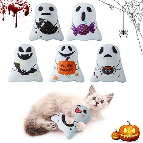 Legendog Katzenminze Spielzeug Halloween Katzenspielzeug Set 5 Klein Katzenminze Kissen Kann für Drinnen und Draußen Verwendet Werden