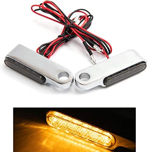 Mini luz de señal de giro de motocicleta LED que fluye intermitente lámpara intermitente para motocicleta Scooter Cafe Race (Plata)