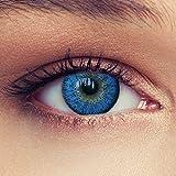 Designlenses Lenti a Contatto Colorate Acqua Blu Naturale alla Ricerca Senza diottrie + Gratis Caso di Lenti Modello Natural Aqua