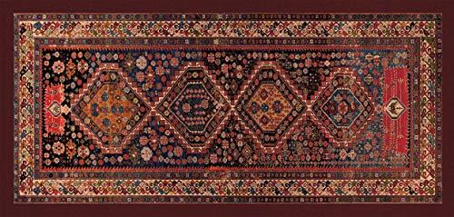 Tappeto Passatoia Classico Riproduzione Stampato Antiscivolo Tappeto Shirvan Caucaso Centro Orientale Corsia Passatoia - Oro - 74x246 cm