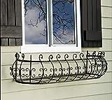 Wrought Iron 36 inch Parisian Window Box Planter