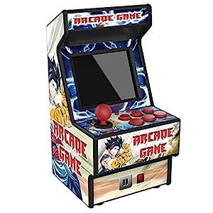 Golden Security Mini Arcade-Spielautomat RHAC06 156 Klassische tragbare Handheld-Spiele für Kinder und Erwachsene mit 2,8-Zoll-Augenschutz und buntem Akku