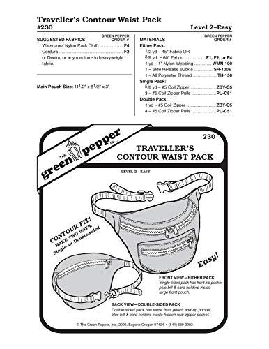 Traveler's Contour Hüfttasche (230GP) Schnittmuster