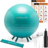 Yoga Ball for Kids Stability | Ideal Flexible Seating for Classroom Furniture & Replacing Kids Computer Chair | 45cm or 55cm Bouncy Balance Ball Chair & Fidget Band, With Pump & Exercise Workout Guide