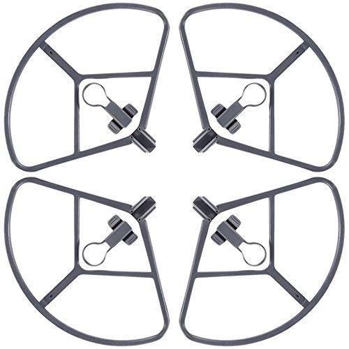 4 Pacchetti Eliche Guard per DJI Mavic Pro, FineGood Quick Release Coperchio di Protezione Protezioni Paraurti, non Interessano Evitare Ostacoli per DJI Mavic Pro Drone - Grey