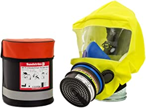 Full Face Mask Respirator, Sundstrom H05-3512 SR77-2 Smoke/Chemical Escape Hood with Carrying Bag