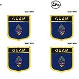 Guam Shiled Shape Flaggenpatches Nationalflaggenpatches für Kleidung DIY Dekoration, Antik Messing