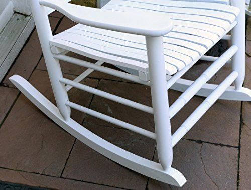 Oliver and Smith - Nashville Collection - Heavy Duty Wooden White Patio Porch Rocker- Rocking Chair - Made in USA - 26