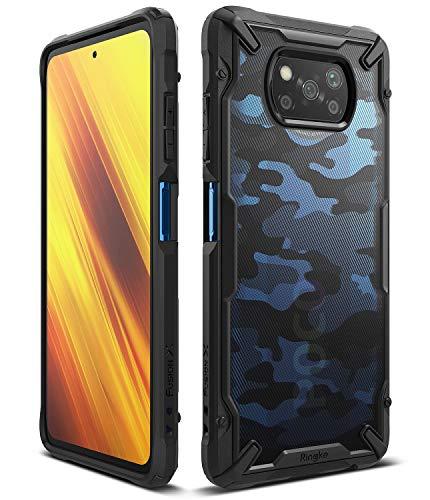 Ringke Fusion-X Compatible con Funda Xiaomi Poco X3 NFC (2020), Militar Carcasa Poco X3 NFC, Parachoque TPU Funda para Poco X3 NFC (6.67 Pulgadas) - Camo Black (Camuflaje)