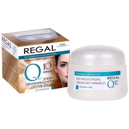 Regal Q10+ - Crema Hidratante de Día Antiarrugas Piel Normal y Mixta