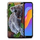 Hülle Für Huawei Honor 8A/Play Wilde Tiere Koala Design Transparent Ultra Dünn Klar Hart Schutz Handyhülle Hülle