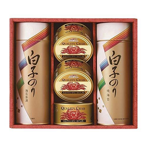 白子のり のりとカニ缶 詰合せ SN-502E 【海苔 詰め合わせ 日本産 国産 ギフトセット】