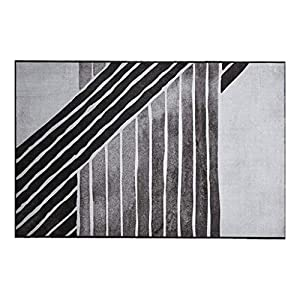 ZJX-F Large Rug of Carpets Area, Thick and Soft Skin-Friendly Living Room Bedroom Bed Blanket Family Black and White Lines Sofa Carpet