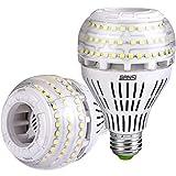 SANSI Bombilla LED E27, luz blanca fría, 27 W (equivalente a bombilla de 250 W), regulable, 5000...
