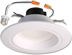HALO RL 5 in. and 6 in. Matte White Integrated LED Recessed Retrofit Downlight Trim, 600 Lumens, 90 CRI, 3500K Bright White