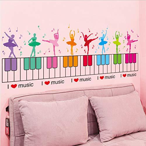 GBICjdojf Girl Dancers Waist Line Stickers PVC Material Ballets Mural Art for Dance Studio Kids Room Baby Bedroom Decoration