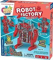 Thames & Kosmos キッズファーストロボット工場: ワッキー、ミスフィット、ローグロボット STEM実験キット | 若いエンジニアのための実践モデル構築 | 電動ロボット8個を組み立てる | ストーリーブックマニュアルで遊び&学習
