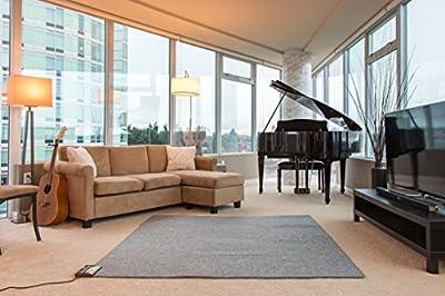 "Woo Warmer Under Rug Instant Radiant Floor Heater Electric Mat Electric Carpet Electric Heated Area Rug Hot Carpet (720 watt 92"" x 76.5"" inches)"