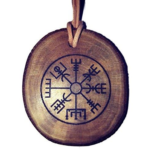 Retrosheep Wikinger-Schutz-Symbol, handgefertigt, umweltfreundlich, aus Holz, Anhänger