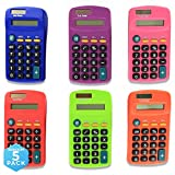 Emraw Pocket Size Calculator 8 Digit, Dual Power, Large LCD Display, School Student Desktop Accounting Office...