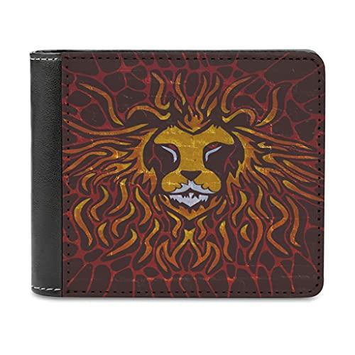 Monedero de piel con diseño de tigre pintado para hombre y mujer, monedero de piel con bloqueo, mini cartera regalo para amigas, blanco, talla única,
