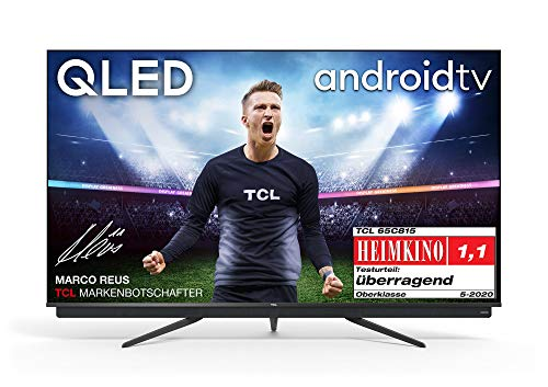 TCL 65C815 QLED-Fernseher (65 Zoll) Smart TV (4K Ultra HD, HDR 10+, Triple Tuner, Android TV, Dolby Vision Atmos, integrierte ONKYO Soundbar, 100Hz Motion Clarity, Google-Assistent & Alexa)