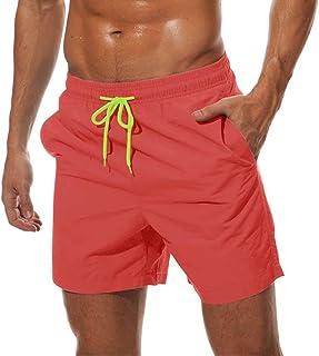MAGCOMSEN Men's Quick Dry Swim Trunks with Mesh Lining Beach Shorts Boardshorts Bathing Surfing Shorts 3 Pockets