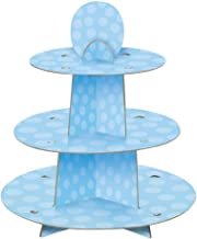 Unique Party 90399 - Blue Polka Dot Baby Shower Cupcake Stand