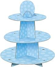 Light Blue Cardboard Cupcake Stand