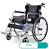 Y-L Behinderte Ältere Rollstühle 17 Kg Transport Medizin Ergonomisch Fortschrittlich Komfortabel Rückenlehnen Beine 190 Kg Tragkraft 45 * 45 cm Sitz und Nacht Kommoden Rollstühle mit...