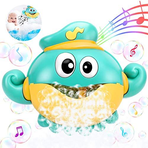 joylink Badespielzeug Bubble, Badespielzeug Bubble Kinder Bubble Machine Automatische Bubbles Maker Octopus Seifenblasenmaschine Wasserspielzeug mit 12 Musik für Badewanne Kleinkindspielzeug