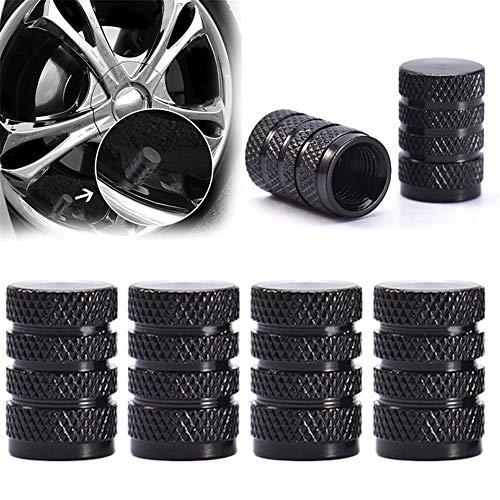 Cubiertas antipolvo 4PCs duradero de aleación de aluminio cubierta de polvo neumático de la rueda de válvula del neumático del borde madre Caps reemplazo for el carro del coche de las piezas de automó