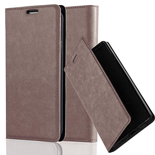Cadorabo Hülle für Honor 5X / Play 5X / Huawei GR5 in Kaffee BRAUN - Handyhülle mit Magnetverschluss, Standfunktion & Kartenfach - Hülle Cover Schutzhülle Etui Tasche Book Klapp Style