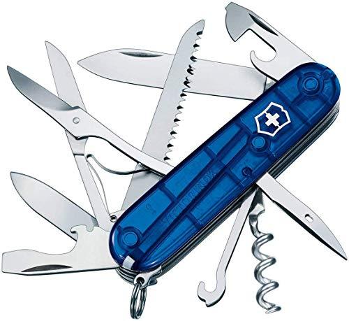 Victorinox Taschenmesser Huntsman (15 Funktionen, Schere, Holzsäge, Schraubendreher), blau