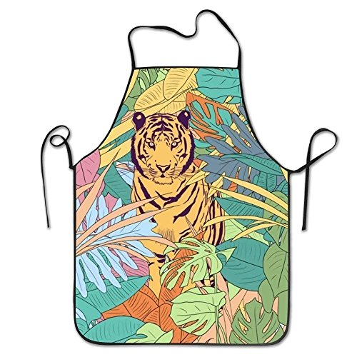 2018 pants Tiger Animal Aprons for Women/Men Bib Save-All BBQ Short Attitude Funny Chef Apron