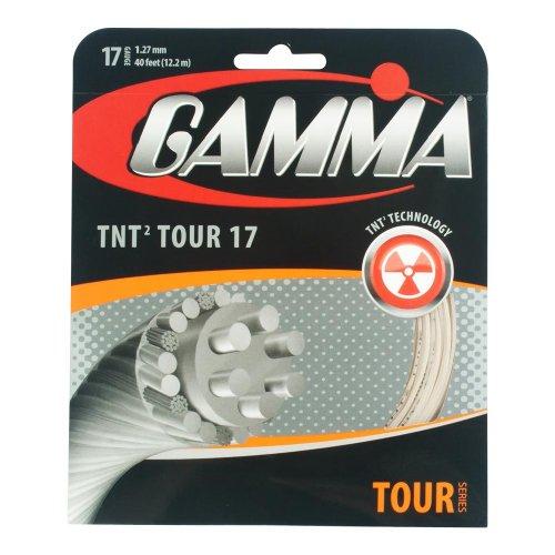 Gamma TNT2 Tour 17G - Corda da tennis, colore: naturale