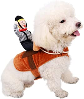 Sendk Funny Pet Cosplay Costume, Riders Dog Costume Funny Thick Clothes Knight Style Festival Clothing